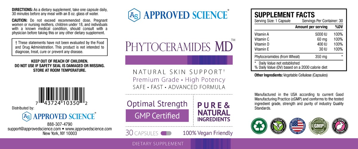 Phytoceramides md Supplement Facts